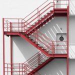 Лестница П-2 многомаршевая пожарная лестница