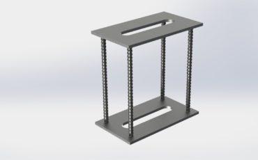 Закладная деталь тип «двойной столик» с двумя плоскими пластинами и нормальными анкерами
