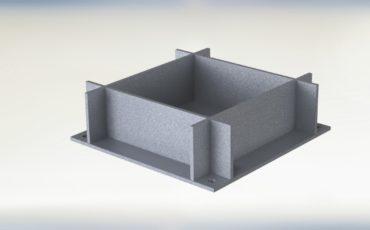 Закладная деталь, элемент стале-железобетонной конструкции, из плоских элементов